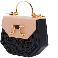 Okhtein - The Aziza Rose ($1,590) ❤ liked on Polyvore featuring bags, handbags, leather cross body purse, leather crossbody, genuine leather purse, genuine leather handbags and leather crossbody handbags Gucci Handbags, Leather Handbags, Structured Handbags, Leather Wallet Pattern, Beautiful Handbags, Purses For Sale, Girls Bags, Luxury Bags, Handbag Accessories