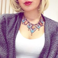 Jewels of Paradise Statement Necklace #happinessbtq