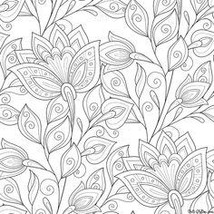 Раскраска Антистресс Нежные цветы