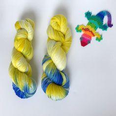 Hand-dyed yarn, Indie dyed yarn, hand dyed yarn MARGE --ready to ship -- Times Square sock weight merino/nylon yarn