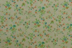 Vintage Floral Fabric Cotton Fabric Cotton by #TheFabricScore www.thefabricscore.etsy.com #sewing #vintagefabric #crafts #diy
