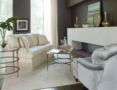 Stiletto Living Room Tables featuring Ascot Sofa from Thomasville