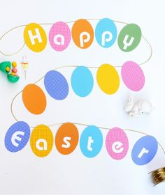 an easter egg garland - my fave
