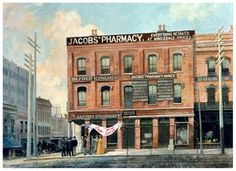 """On May 8th, 1886, 123 years ago today, Coca-Cola was first served in Atlanta, Georgia. Dr. John Stith Pemberton, a local pharmacist, produced the syrup for Coca-Cola, and carried a jug of the new product down the street to Jacobs' Pharmacy, where it was sampled, pronounced """"excellent"""" and placed on sale for five cents a glass as a soda fountain drink."""
