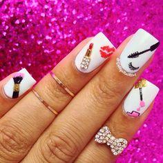 Cosmetic products nail art – lipstick eyeslash brush