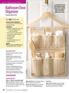 Bathroom Organizer Http://imgbox.com/abcPeYrk | Haken | Pinterest |  Crochet, Knit Crochet And Patterns