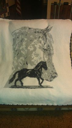Paso Fino horse afghan