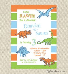 Modern Dinosaur Invite