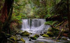 Natural Waterfalls Wallpaper