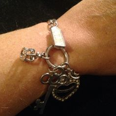 Juicy bracelet Juicy bracelet with crown, heart and key charms and a JUICY link Juicy Couture Jewelry Bracelets