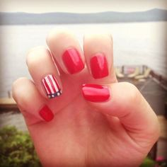 Happy fourth! Red white and blue nails!