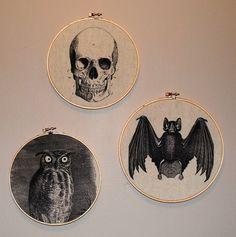 Needlepoint frames , the perfect #Halloween decorating idea
