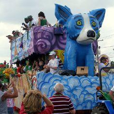 Blue Dog Float