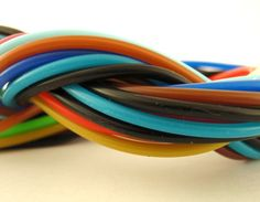 36 Rubber Cord Sampler  Assorted Colors 22mm by UnkamenSupplies, $17.00
