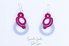 Unique handmade soutache earrings