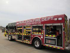 Burleson Fire Department (TX) heavy rescue apparatus http://setcomcorp.com/intercoms.html