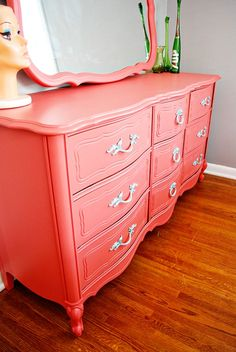 """pink dresser. martha stewart """"peony"""""""
