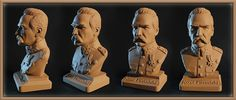 Józef Piłsudski Version color sand #pilsudski #poland #leader #patriot #stateman #general #military #uniform #art #sculpture #bust #figure