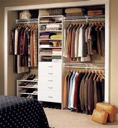 This With Double Rails Moved Higher For Hamper Space. A dream closet.