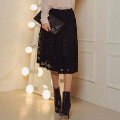 Buy 'ERANZI – Gathered Waist Lace Midi Skirt' with Free International Shipping at YesStyle.com. Browse and shop for thousands of Asian fashion items from South Korea and more!