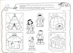 Tipos de viviendas Time Activities, Preschool Activities, Formation Montessori, Bible Mapping, Around The World In 80 Days, Activity Sheets, Bible Lessons, Life Science, Life Skills