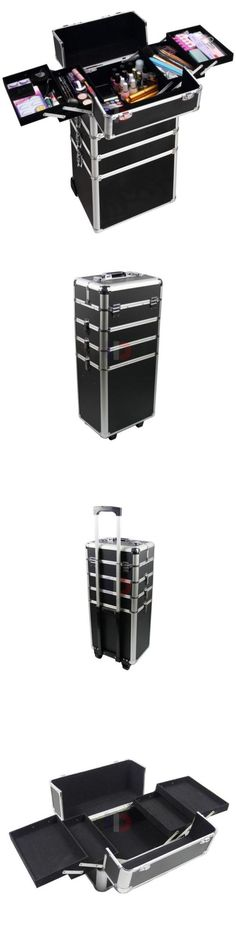 Rolling Makeup Cases: Pro 4In1 Aluminum Rolling Makeup Salon Beauty Cosmetic Train Case Box Trolley -> BUY IT NOW ONLY: $70.99 on eBay!