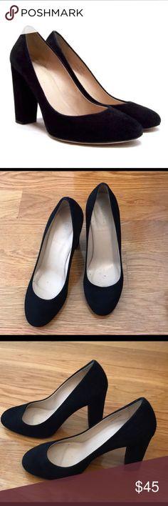J. Crew Etta pumps • Black Suede Great condition • Black Suede • Like new • Size 7 1/2 J. Crew Shoes Heels