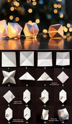We've always wanted to build origami shapes, but it looked too hard to learn. Turns out we were wrong, we found these awesome origami shapes. Origami Design, Diy Origami, Useful Origami, Origami Tutorial, Origami Cube, Origami Templates, Box Templates, Oragami, Origami Instructions