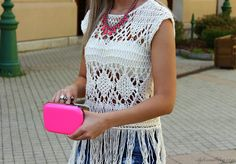 Tassels And Neon Pink ( Lace Shirts