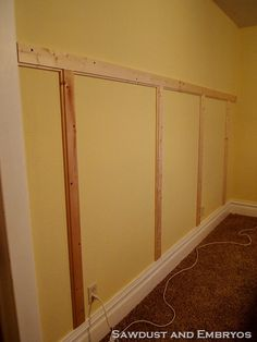 Wainscoting to do. So simple that you can't not do it!