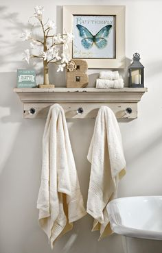 Whether you're looking to hang towels, coats, scarves or bags, the Distressed Cream Ledge is a beautiful solution!
