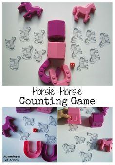 Horsie Horsie don't you stop, Just let your feet go clippety-clop Encourage your toddler or preschoolers early mathematical development with a Horsie Horsie Counting Game.