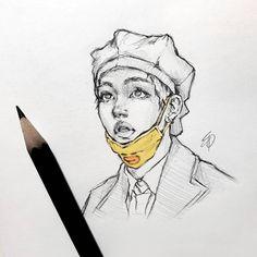 New drawing realistic bts 43 ideas Taehyung Fanart, Kpop Drawings, Kpop Fanart, Pencil Art, Aesthetic Art, Cute Art, Art Inspo, Art Sketches, Art Reference