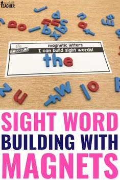 8 Engaging Word Building Activities for Students to Practice Sight Words Teaching Sight Words, Teaching Phonics, Teaching Reading, Reading Fluency, Teaching Ideas, Learning, Comprehension Activities, Phonics Activities, Free Activities