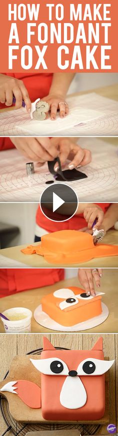 How to Make a Fondant Fox Cake - Learn how to make this cute Fox Cake. If you're new to fondant, this easy project is the right one for you!