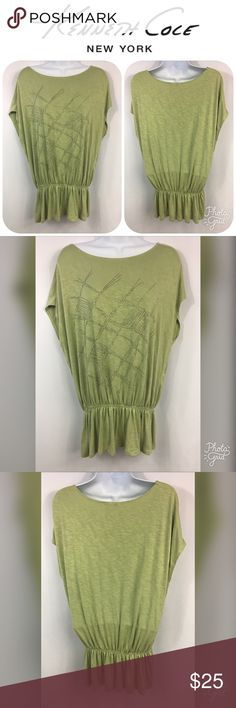 ***KENNETH COLE*** New York Top Size L This is a ***KENNETH COLE*** New York Top in a size L.  This top has stretch at the bottom and would look adorable with a pair of leggings!  This top is in EXCELLENT CONDITION! Kenneth Cole Tops Blouses