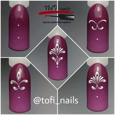 From general topics to more of what you would expect to find here, nail-art-stickers. Lace Nails, Flower Nails, Nail Art Hacks, Easy Nail Art, Nail Art Arabesque, Diy Nails, Manicure, Swirl Nail Art, Nail Drawing