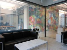 Privacy Glass Office- glass goes from clear to privacy at touch of button