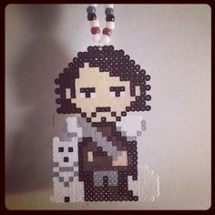Jon Snow Game of Thrones perler beads by instadouchee