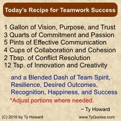Teamwork Quotes. Team Building Quotes. Quotes on Team Building. Quotes on Teamwork. Motivation Magazine. Ty Howard. ( MOTIVATIONmagazine.com ) Team Quotes, Teamwork Quotes, Sport Quotes, Teamwork Motivation, Wisdom Quotes, Life Quotes, Quotes Quotes, Happy Quotes, Positive Quotes