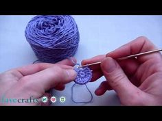 how to #crochet a button #video