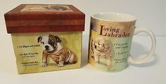 Puppy Professionals with Gift Box NEW Retriever Beagle Labrador Coffee Mug Cup Glass Coffee Mugs, Ceramic Coffee Cups, Funny Coffee Mugs, Coffee Humor, Labrador Retriever Dog, Dogs Golden Retriever, Coffee Klatch, Dog Artist, Mugs