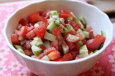 Israeli Chopped Tomato and Cucumber Salad