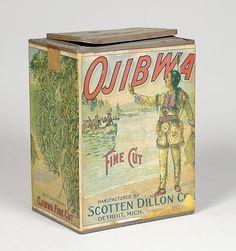Ojibwa Fine Cut Tobacco Tin. Cowan's Auctions.