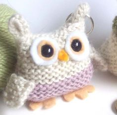 Ravelry: 'Bill the Owl' Knitted Owl Keyring pattern by Knit Quit Knitting Kits