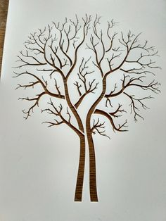 Fingerprint Guestbook Tree - Wedding or Event - Jasmine Design Wedding & Event Stationery Illustrator Design, Thumbprint Tree, Tree Stencil, Stencil Painting, Fingerprint Tree, Fingerprint Wedding, Tree Templates, Giant Tree, Tree Silhouette