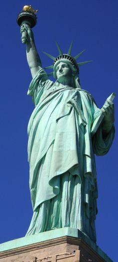 Vrijheidsbeeld New York, hoort erbij als rondtrip maakt door de Verenigde Staten