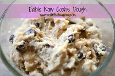 Edible Raw Cookie Dough Recipe - Serve with Ice Cream, Apples, Chocolate Bars!