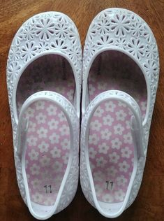 Bobbie Brooks Girls Sandals Slides Pink Glitter Jelly Beach Summer Shoes Bling
