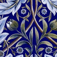 William Morris Membland Cobalt sample tile